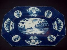 RARE 18th C BOW POWDER BLUE FAN PANELLED LANDSCAPE 1758-60 PORCELAIN PLATE DISH  | eBay EXCELLENT OVERALL CONDITION.  A COUPLE OF VERY SMALL SHALLOW GLAZE WEAR/ROUGH AREAS TO EDGE OF THE RIM.  THE PLATTER IS SLIGHTLY DISTORTED AND THEIR IS SOME KILN DUST TO ONE CONFINED AREA OF THE UNDERSIDE. PSEUDO_CHINESE>MARK 315.50