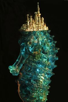 City of Dreams [Submerged Seahorse] [Booming Urban Landscapes Symbolically Made of Steel] [by Chinese sculptor Hu Shaoming] - My Modern Metropolis
