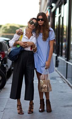 Mother & Daughter via The Sartorialist    Crap, I actually really like the mom's outfit better. Does this make me old?!