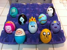 Adventure Time Eggs There's no one right way to decorate an Easter egg – cultures around the world have come up with their own ways to enjoy this ancient tradition, and all of them turn eggs into beautiful and symbolic works of art. Adventure Time Birthday, Adventure Time Parties, Easter Egg Crafts, Easter Eggs, Minion Eggs, Easter Egg Designs, Easter Ideas, Jake The Dogs, Egg Decorating