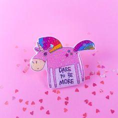 Cute Pink Unicorn Pin Limited Edt Pink Glitter, Cute Pink, Unicorn, A Unicorn, Unicorns
