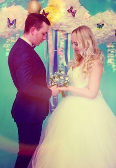 Wedding in the clouds and butterflies Райская свадьба в облачках.