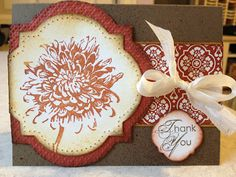 would love to do this with the rose from the fifth avenue floral. mirror layout though. Blooming With Kindness, Window Frames Framelits, Comfort Cafe DSP - Catherine Loves Stamps 123 Cards, Your Cards, Scrapbook Cards, Scrapbooking, Love Stamps, Fall Cards, Pretty Cards, Flower Cards, Homemade Cards