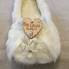 Personalised wedding slippers perfect for your wedding reception to dance the night away Bridesmaid Slippers, Wedding Slippers, Wooden Hearts, Dance The Night Away, Personalized Wedding, Mother Of The Bride, Wedding Reception, Etsy, Wedding Flip Flops