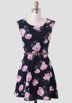 Lilac Blossoms Belted Dress