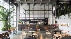 The experience of walking New York's High Line inspired the layout of Antwerp co-working space Fosbury & Sons, designed by Belgian studio Going East.