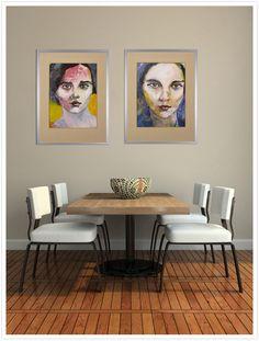 Richard Kuhn Mademoiselle de France # 212/17 acrylics on paper 65 x 50 cm roomview