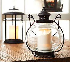 BethlehemLights Indoor/Outdoor 11 Jacqueline Lantern with Luminara Candle