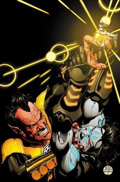 Yellow Lantern Sinestro vs Lobo (Prime Earth) (Sinestro vol.1 #15) Art by Brad Walker