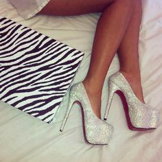 sometimes you have to have a pair of sparkling high heels to feel like a princess