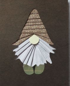 gnome- uploaded by user Cindy M Hayes Iris Paper Folding, Iris Folding Pattern, Fabric Postcards, Foundation Paper Piecing, Origami, Mini Quilts, Scrapbook Paper Crafts, Christmas Cards, Xmas