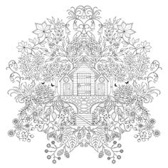 Inspirational coloring pages from Secret Garden, Enchanted Forest and other coloring books for grown-ups. Make your world more colorful with free printable coloring pages from italks. Our free coloring pages for adults and kids. Adult Coloring Pages, Coloring Pages For Grown Ups, Colouring Pages, Printable Coloring Pages, Free Coloring, Coloring Sheets, Coloring Books, Mandala Coloring, Digi Stamps