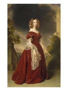 Giclee Print: Louise-Marie-Thérèse-Charlotte-Isabelle d'Orléans, reine des Belges (1812-1850), en 1841 by Franz Xaver Winterhalter : 24x18in