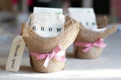 Mini Planters with Seeds and other baby shower favor ideas  http://redtri.com/bump-baby/baby-shower-favors-creative-ideas/?utm_source=popsugar.com&utm_medium=referral&utm_campaign=pubexchange_module