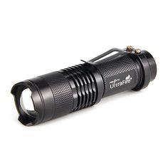 Mini Led Flashlight Torch Adjustable Focus Light Lamp
