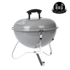 BBQ Classics Portable Charcoal Barbecue with Lid Best Charcoal Grill, Charcoal Bbq, Tragbarer Grill, Burger Box, Meat Packing, Summer Kitchen, Grills, Good Things, Patio