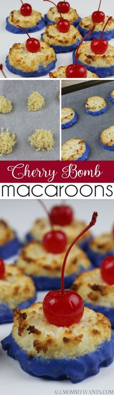 Coconut Cherry Bomb Macaroons | All Mommy Wants
