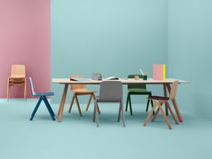 The Copenhague Chair designed by Ronan and Erwan Bouroullec for Hay.Part of a collection of furniture which has been designed for the University of Copenhagen.