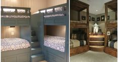 These corner bunk bed designs truly are fabulous! If you need to pack a lot of kids into a small space at night, this is the perfect solution.