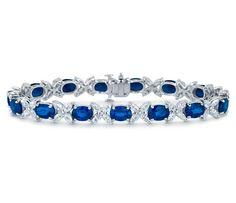 Stunning Sapphire and Marquise Diamond Bracelet | #Jewelry #Sapphire #Style
