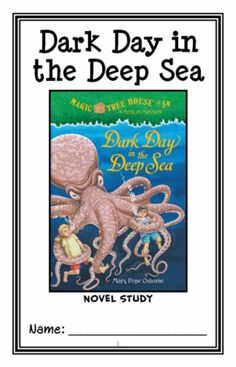 Dark Day in the Deep Sea : Magic Tree House #39 (Mary Pope Osborne) Novel Study from McMarie on TeachersNotebook.com -  (30 pages)  - A fun, engaging, 30-page booklet-style Novel Study complete with a challenging, book-based Word Jumble and Word Search!  Based on 'Magic Tree House #39: Dark Day in the Deep Sea.'