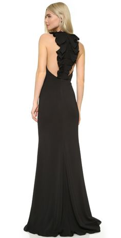 online shopping for Badgley Mischka Collection Ruffle Back Gown from top store. See new offer for Badgley Mischka Collection Ruffle Back Gown Bridesmaid Dresses, Prom Dresses, Formal Dresses, Cameo Dress, Dress Outfits, Fashion Dresses, Black Wedding Dresses, Party Dresses For Women, Dress Backs