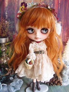 ☆ * Custom Blythe spring of Little Red Riding Hood Gothic girly tea-dyed ☆ Admin - Auction - Rinkya! Japan Auction & Shopping