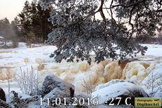 Horunkoski Pyhäjoki, pakkanen