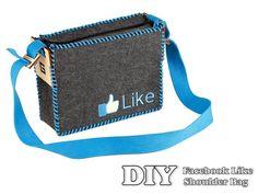 DIY Facebook Like Shoulder Bag