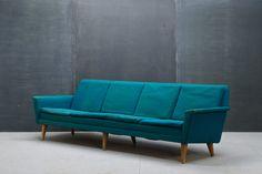 c.1950s. Vintage Rare Four-Seater DUX Sofa by Folke Ohlsson for Povl Dinesen Cabinetmaker | Denmark