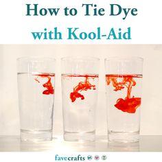 How to Tie Dye with Kool-Aid Tie Dye Instructions, Diy Tie Dye Techniques, Patriotic Crafts, Patriotic Party, Tie Dye Crafts, How To Tie Dye, Plastic Tablecloth, Crochet Dishcloths, Tie Dye Designs