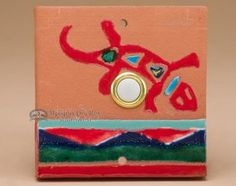 Southwest Saltillo Tile Door Bell Button - Gecko (db14)