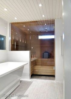 35 The Best Home Sauna Design Ideas You Definitely Like - No matter what you're shopping for, it helps to know all of your options. A home sauna is certainly no different. There are at least different options. Latest Bathroom Tiles, Bathroom Spa, Modern Bathroom, Small Bathroom, Sauna Steam Room, Sauna Room, Modern Saunas, Infrarot Sauna, Sauna Design