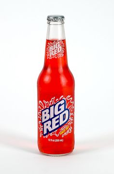 """Big Red soda is as """"Texas"""" as it gets. I remember drinking these from a glass bottle. I love that spicy creme soda taste! Big Red is red hot with this gal! Pop Bottles, Hot Sauce Bottles, Glass Bottle, Cream Soda, Dr Pepper, Non Alcoholic Drinks, The Good Old Days, Simple Pleasures, Yummy Drinks"""