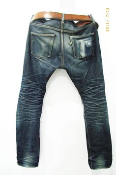 worn pure blue japan denim jeans