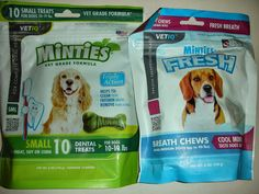 VetIQ Minties Giveaway - Win 2 bags of Minties Dental Treats and Fresh Breath Chews! (Ends 10/23)