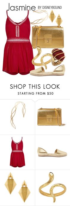 """Jasmine"" by leslieakay ❤ liked on Polyvore featuring Dolce&Gabbana, River Island, Michael Kors, Stephanie Kantis, Madina Visconti di Modrone, disney, disneybound and disneycharacter"