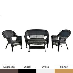 @Overstock.com - Wicker Patio 4-piece Conversation Set - Decorate your patio and provide seating for up to four with this traditional conversation set. The set features a coffee table, settee and two chairs, allowing you to host events or simply relax in comfort in your favorite outdoor entertainment area.  http://www.overstock.com/Home-Garden/Wicker-Patio-4-piece-Conversation-Set/6549770/product.html?CID=214117 $562.03