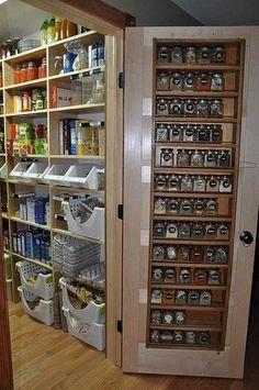 Organize your pantry today Organisieren Speisekammer glas regale korb idee - Own Kitchen Pantry Pantry Storage, Pantry Organization, Kitchen Storage, Pantry Ideas, Spice Storage, Pantry List, Locker Storage, Basket Shelves, Pantry Design
