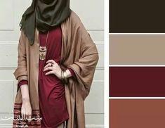 Beige & brown & vinous