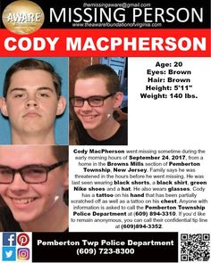 Find Missing Cody MacPherson!