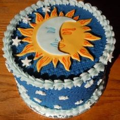 cake sun moon - Google Search