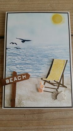 Stampin Up Colorful Seasons beach scene