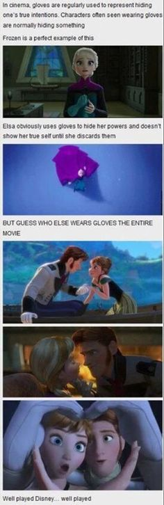 The Disney fandom is OUT of control. Glove theory from Frozen.