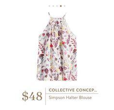 Stitch Fix Collective Concepts Simpson Halter Blouse