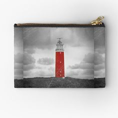 'The Eierland Red Lighthouse, Texel, Netherlands' Zipper Pouch by Sizzlinks Zipper Pouch, Are You The One, Lighthouse, Creative Design, Netherlands, Places To Visit, My Arts, Things To Come, Phone Cases