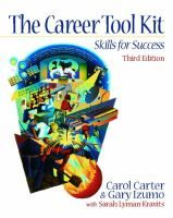 The Career tool kit: skills for success by Carol Carter