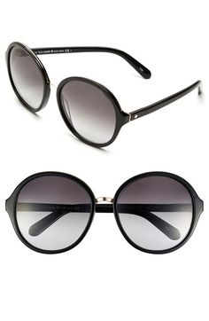 Free shipping and returns on kate spade new york 'bernadette' 58mm gradient sunglasses at Nordstrom.com. Icon spade insets gleam from the temples of sleek, classic sunglasses with gradient lenses and a rounded silhouette.