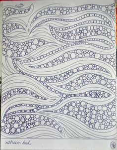 nice background filler mixing soft curves & pebbles. Doodling is good practice!