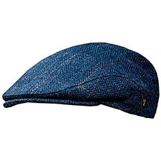 Men's Donegal Tweed Flat Cap - Traditional style, Modern fashion item - Blue, Small